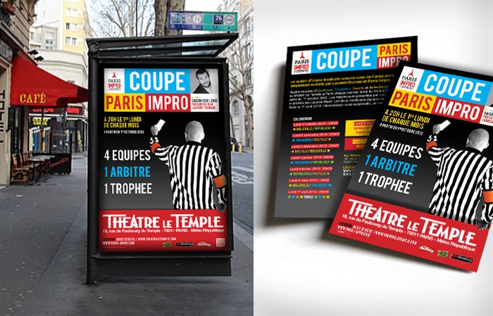 Affiche spectacle d'improvisation / Graphiste freelance Paris