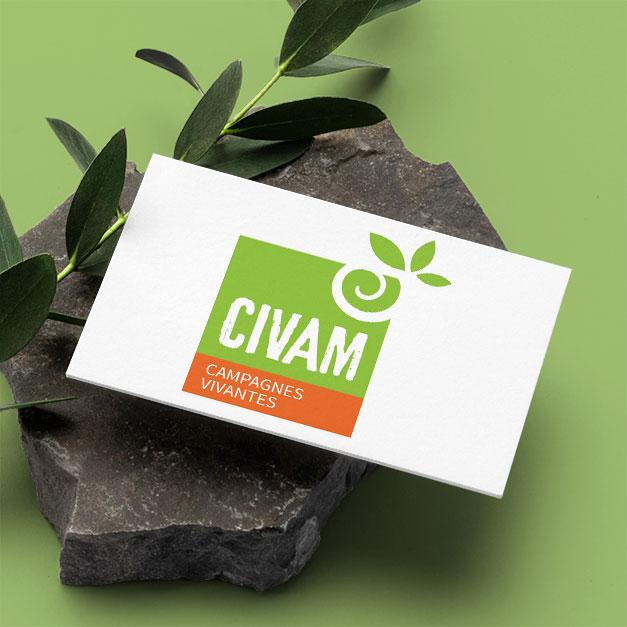 Graphiste responsable freelance / Logo écologie / CIVAM