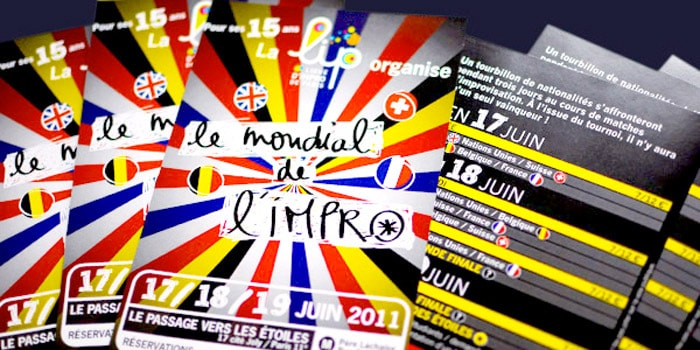 Graphiste freelance Flyer spectacle impro