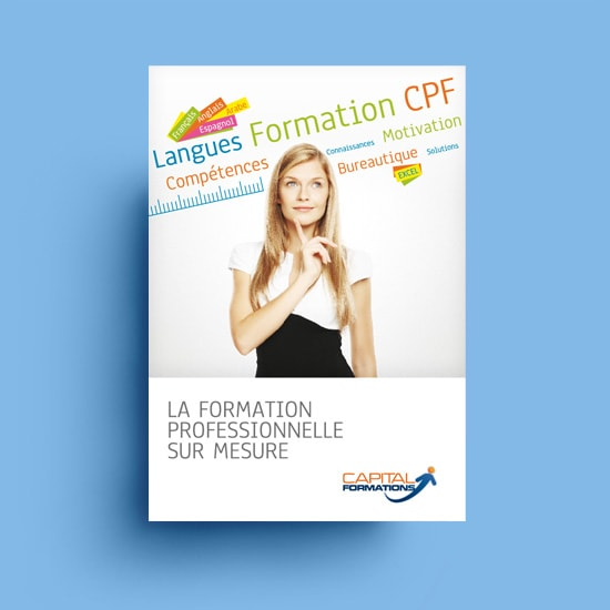 Création de plaquette corporate Capital Formations / Graphiste freelance Paris