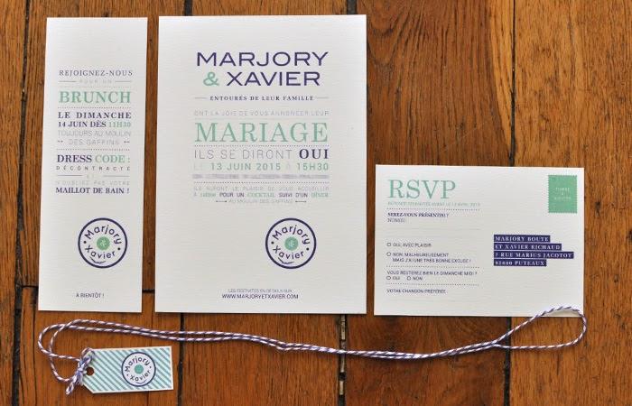 Création faire-part de mariage provence / Graphiste freelance Paris 14