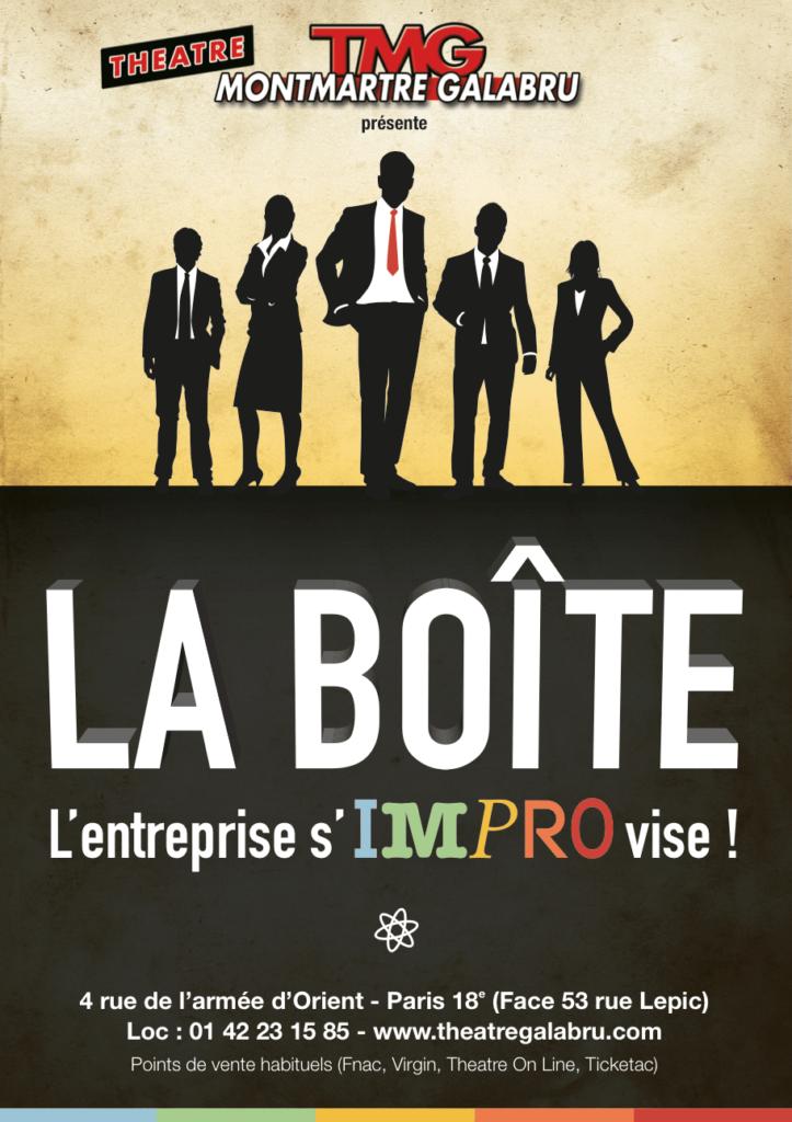 Création de l'affiche La Boîte le spectacle / Graphiste freelance Paris