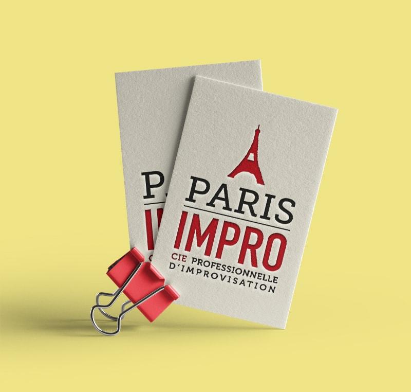 Création de logo pour compagnie de théâtre Paris impro / Graphiste freelance Paris