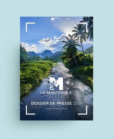 Mise en page dossier de presse tourisme / Graphiste freelance Paris 14