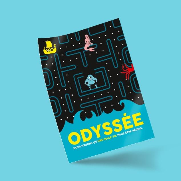 Création de visuel concept spectacle Odyssée / Graphiste freelance Paris