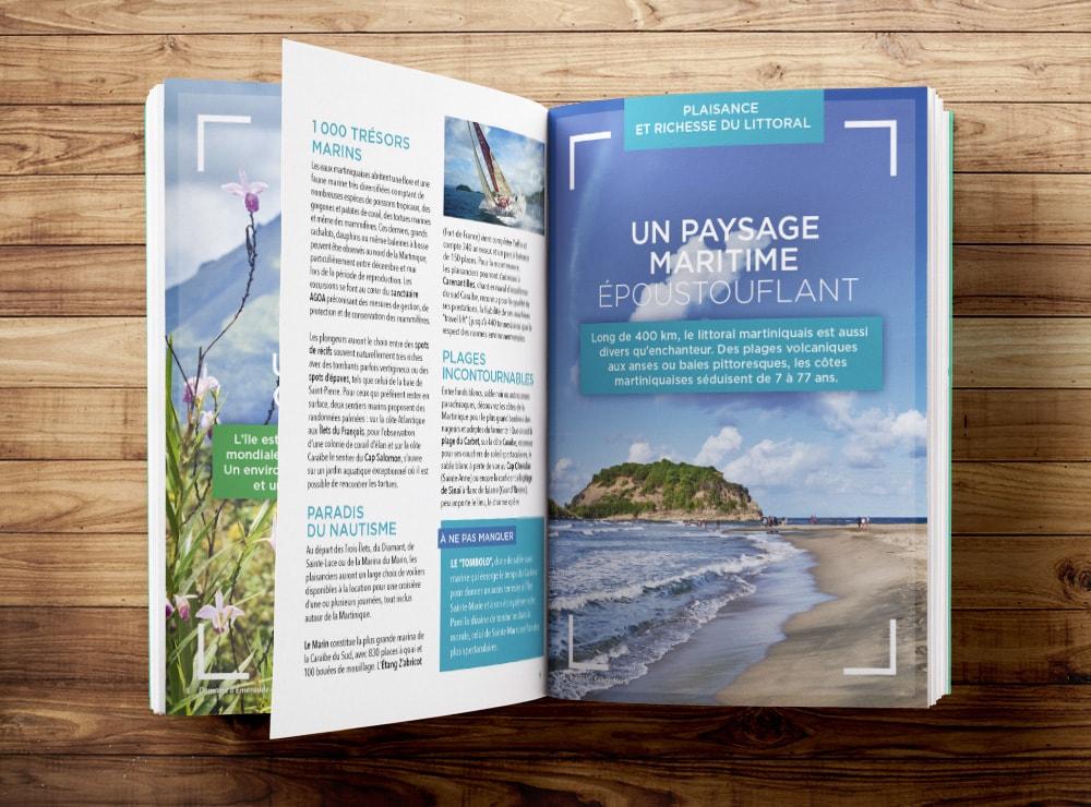 Création dossier de presse tourisme / Graphiste freelance Paris