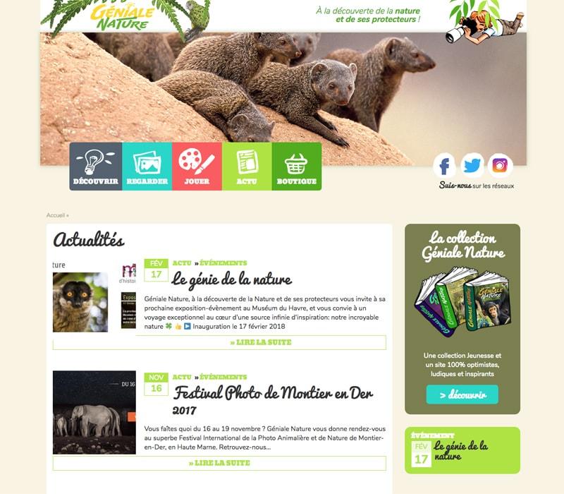 Création de site web écologique pour enfants / Graphiste freelance Paris