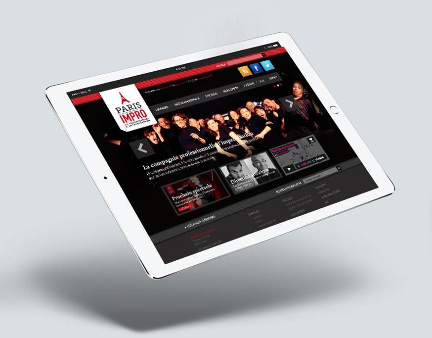Graphiste freelance site web Paris Impro