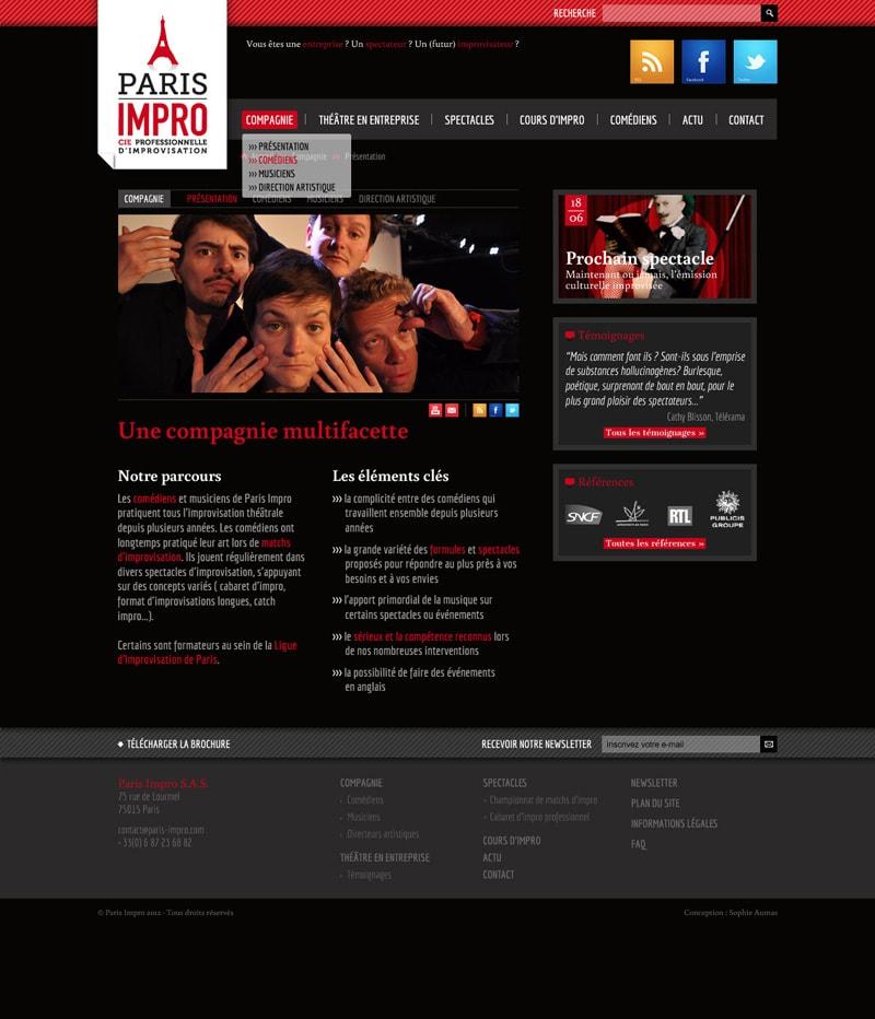 Graphiste freelance site internet compagnie théâtrale