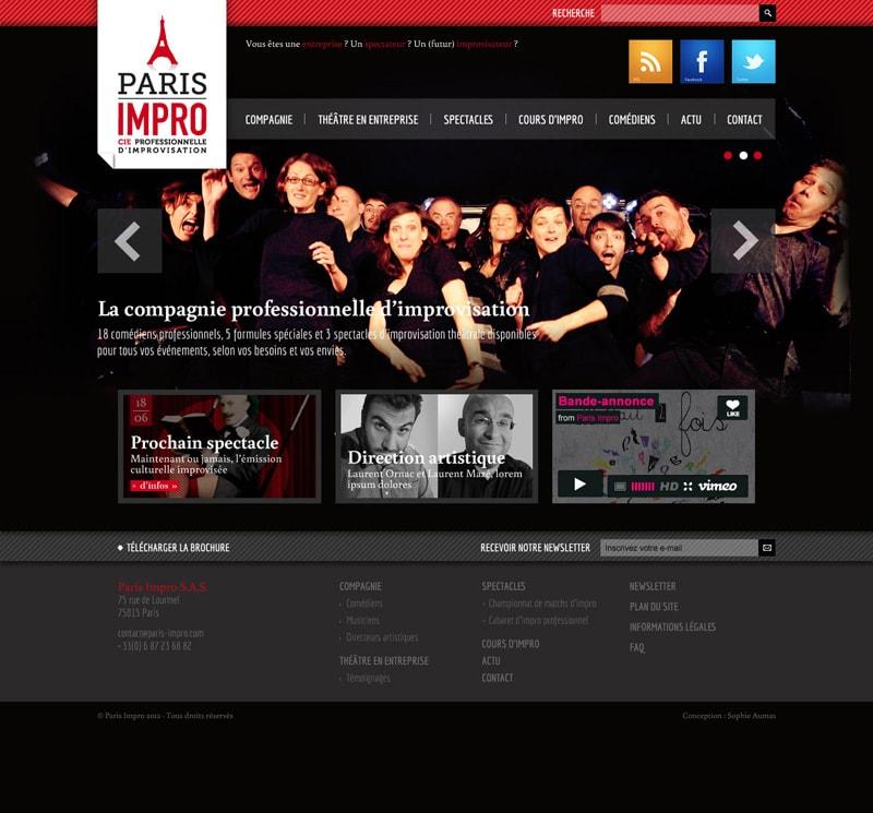 Graphiste freelance site web compagnie théâtrale