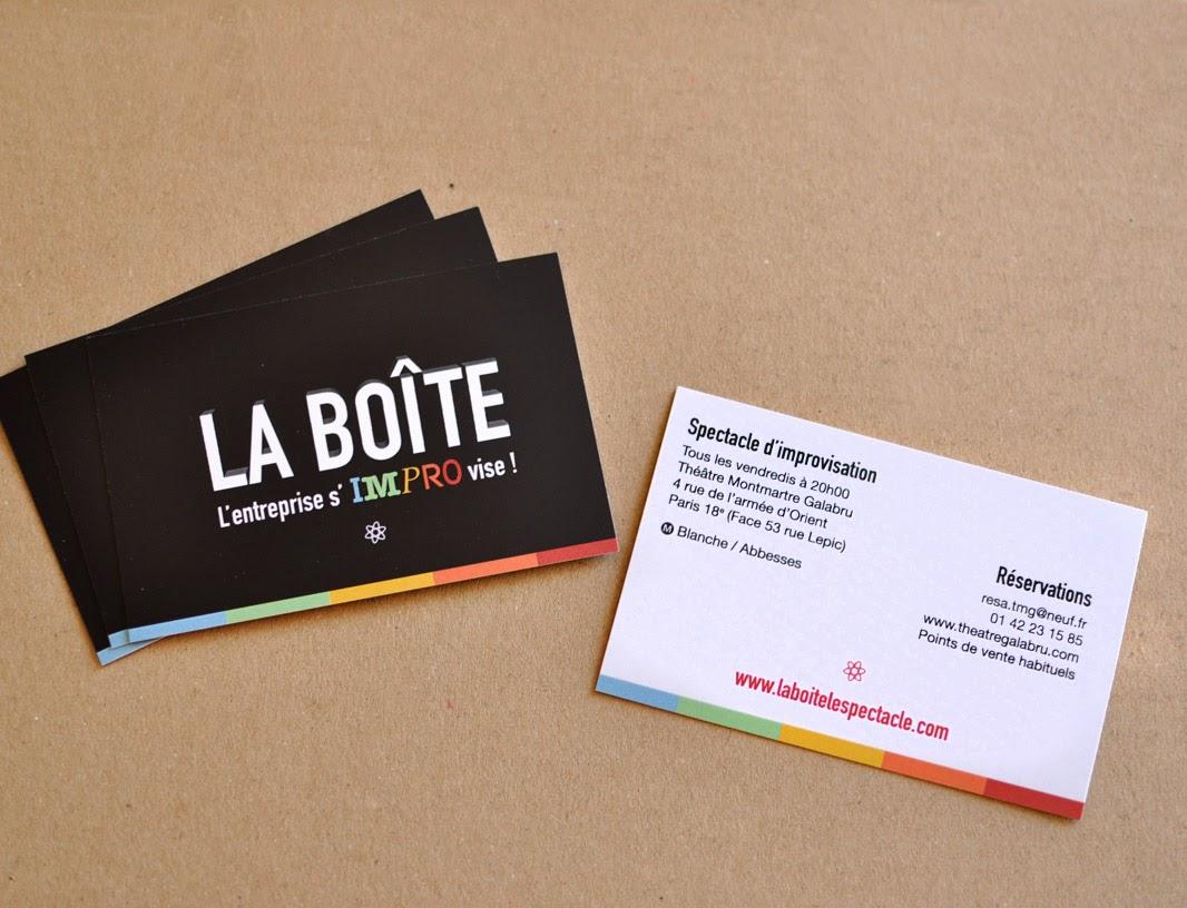 Création de logo La Boîte, spectacle d'improvisation / Graphiste freelance Paris