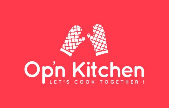Création de logo cuisine de grands chefs Op'n kitchen / Graphiste freelance Paris 14