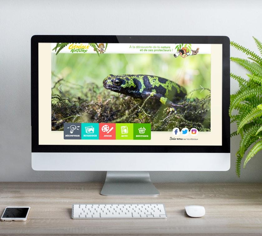 Création de site internet Géniale Nature pour les enfants / Graphiste freelance Paris