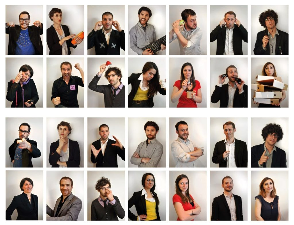 Photographe comédiens La Boîte le spectacle / Graphiste freelance Paris