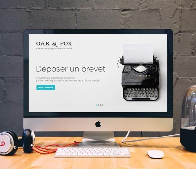 Création de site internet propriété industrielle / Graphiste freelance Paris 14