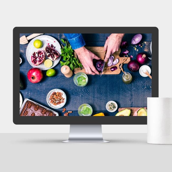 Création site web cuisine Op'n Kitchen / Graphiste freelance Paris 14