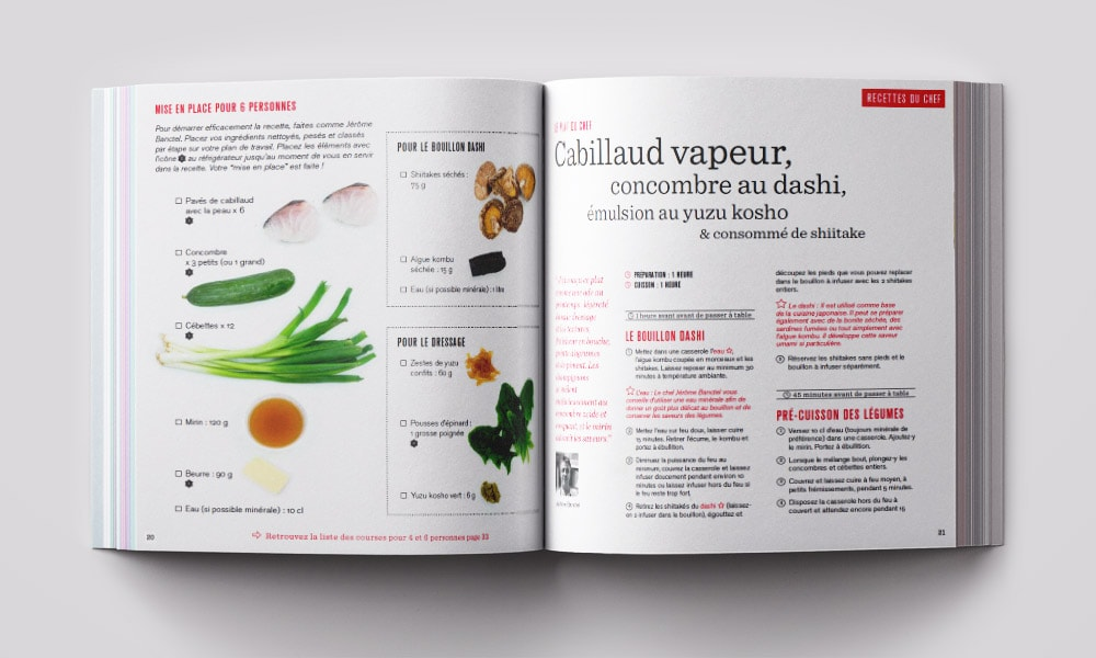 Graphiste indépendant / Magazine de cuisine