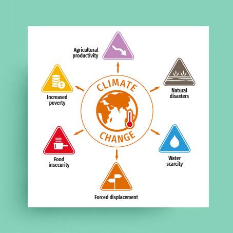 Association humanitaire / Graphiste / Dépliant sur le changement climatique