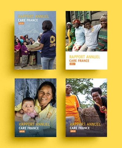 Graphiste Freelance / Rapport annuel / Association humanitaire